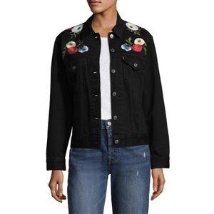 Jackets & Blazers - Levi Embroidered trucker denim jacket